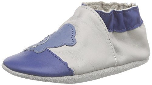 RobeezPLOUF - Scarpine e pantofole primi passi  Unisex - Bimbi 0-24 , Grigio (Grau (GRIS CLAIR)), 17/18