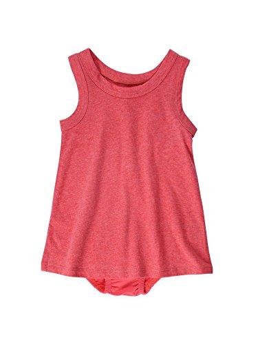 buy Colored Organics Baby Girls' Organic Swing Tank Dress - Heather Coral - 12-18M for sale