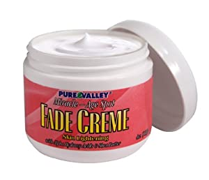 Medicated Age Spot Fade Crème with Skin-lightening. Proven results for Face, Neck, Chest, Hands. 4oz Jar.