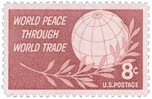 #1129 - 1959 8c World Peace Through World Trade - Plate Block - 4 Postage Stamps