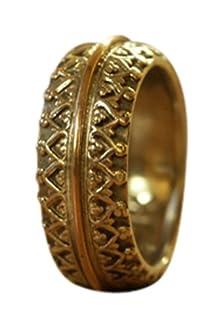 buy Unisex 9K Rose Gold 925 Silver Wedding Ring Designer Israel New Size 10