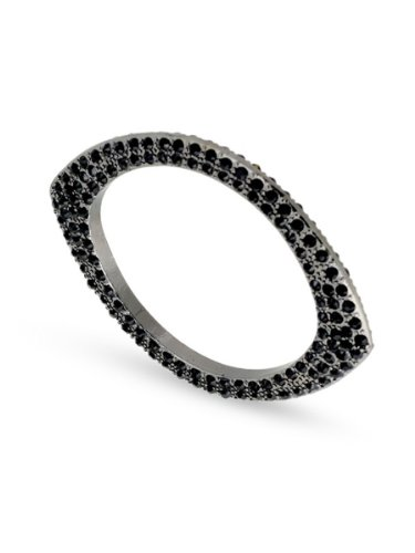 Belle Noel By Kim Kardashian Plated Eye Bangle - Gunmetal/Black