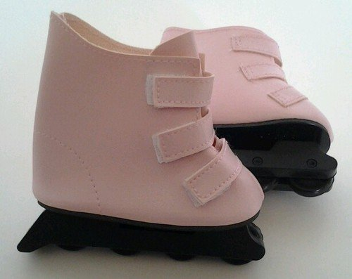 PINK ROLLER BLADES FOR AMERICAN GIRL DOLLS