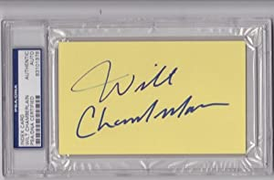 Wilt Chamberlain Autographed Hand Signed Los Angeles Lakers 3x5 inch Slabbed Card -... by Real+Deal+Memorabilia