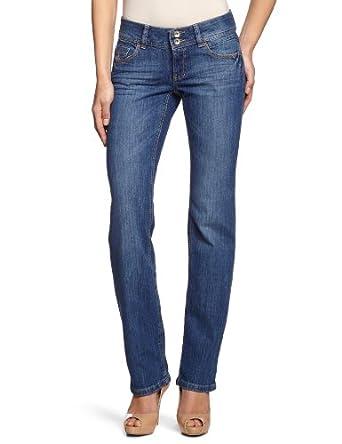 edc by ESPRIT - Jean - Coupe Droite - Femme - Bleu (945 Reg Stone Denim) - FR : 26W/30L (Taille fabricant : 26/30)