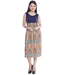 Binny Creation Women's Art Crepe Digital Print Western Dress (Tunic) (BWD-11031)