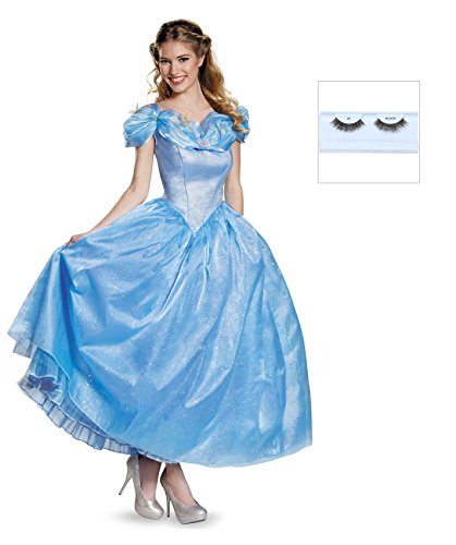 Cinderella Movie Prestige Adult Costume with Eyelashes