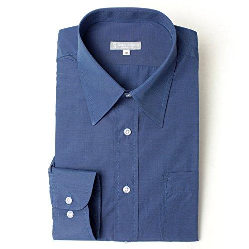 レギュラーカラー 長袖ワイシャツ カラーシャツ メンズ 長袖 ワイシャツ Yシャツ シンプリーアンドビーイング[Simply&Being] 3Lサイズ