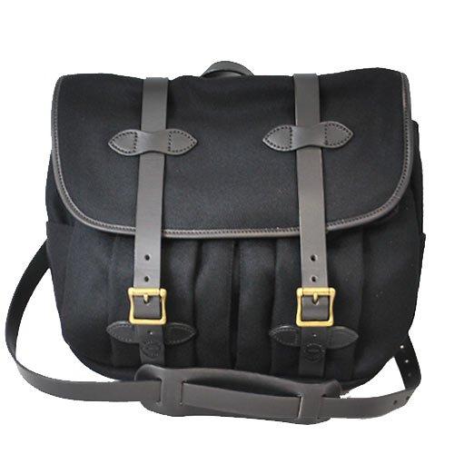 [フィルソン]FILSON ショルダーバッグ ウール フィールドバッグ Black ブラック 70103 Wool Medium Field Bag [並行輸入品]