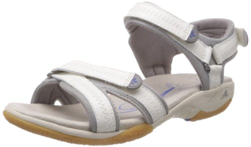 Clarks Isna Pebble 20353295, Sandali sportivi donna, Bianco (Weiß (White Leather)), 38