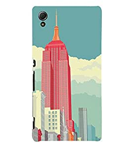 EPICCASE Abstract newyork Mobile Back Case Cover For Sony Xperia Z4 Mini / Z4 Compact (Designer Case)