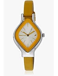 Fastrack Yellow Analogue Watch For Women - 6109SL01