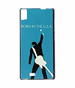 Exclusive Hard Back Case Cover For Gionee Elife S5.5 - Guitar Men