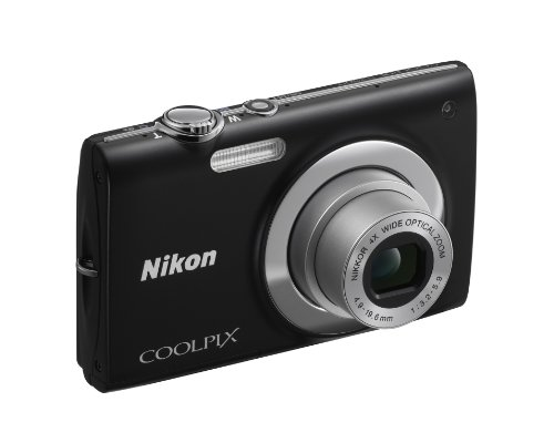 Nikon Coolpix S2500 Digital Camera - Black (12MP,