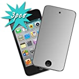 GTMax 3pcs. Mirror LCD Screen Protector for Apple iPod Touch 4th Generation