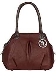 YL Chicago Genuine Leather Made Top Zip Hand Bag With Zip Closure - B01L3R6EB2
