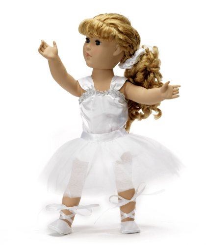 White 5 Pc. Ballerina Outfit