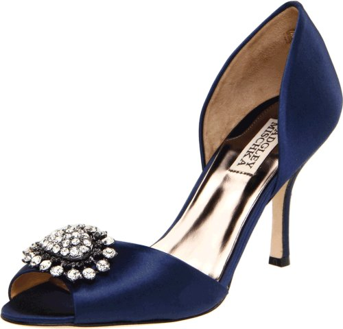 Badgley Mischka Women's Lacie Pump,Navy,6.5 M US