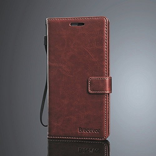 Bracevor Xiaomi Mi 4 Mi4 Premium Wallet Stand Leather Case Flip Cover - Executive Brown