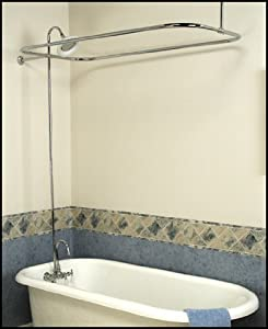 Clawfoot Tub Add On Shower Kit Gooseneck Faucet Rod Bathtub And Showerh