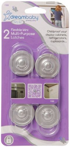 Dreambaby Mini Multi-Purpose Lock 2 Pack- Clear/Silver