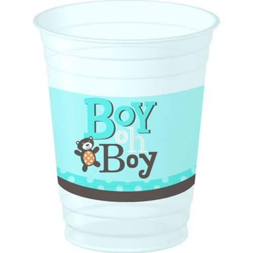 Boy Oh Boy Baby Shower 14oz. Platic Cups 8 Pack