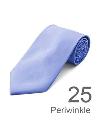 New Polyester Men's Neckties Solid Neck Tie 38 Colors (Periwinkle)