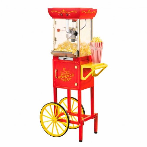 Nostalgia Electrics CCP-200 Vintage Collection 48-Inch Popcorn Cart, Red