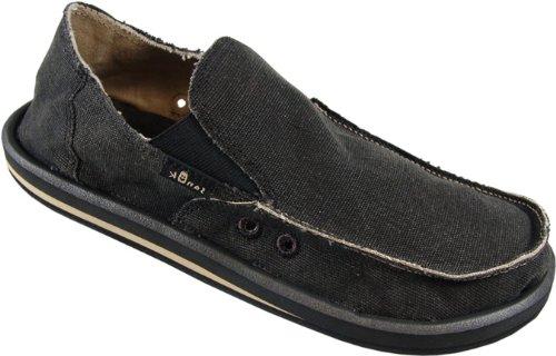Sanuk Men's Vagabond Slip-On Loafer, Charcoal, 10 M US