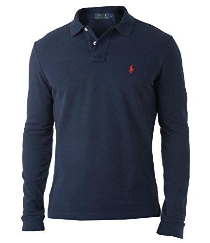 ralph-lauren-t-shirt-a-manches-longues-homme-bleu-bleu