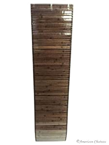 New 12 x 48 INCHES Chocolate Brown Slat Bamboo Decorative Table Runner