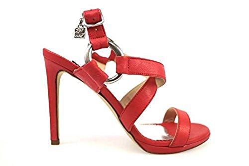 Scarpe donna BRACCIALINI 37 sandali corallo pelle ap639