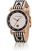 Lulu Guinness Lulu Guinness Bronze Cameo Stripe Watch women's quartz Watch with beige Dial analogue Display and beige leather Strap 0.95.0409