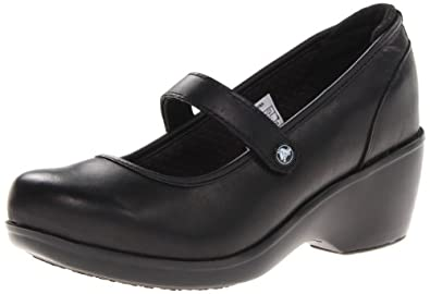 Crocs Women's Ginger Mary Jane,Black/Black,7 M US
