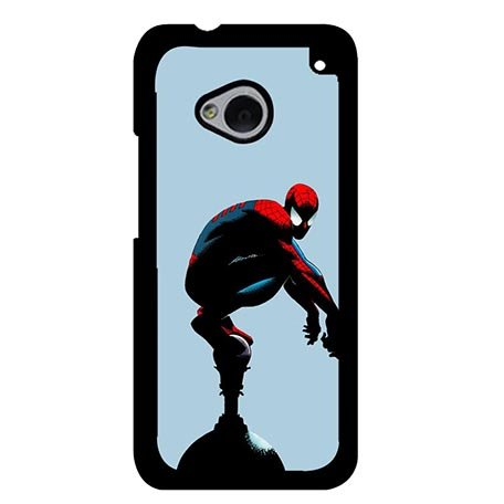Art Spiderman Marvel Comics Hard Back Case Cover for HTC One M7, Customised HTC One M7 Protective Phone Cases For Girls