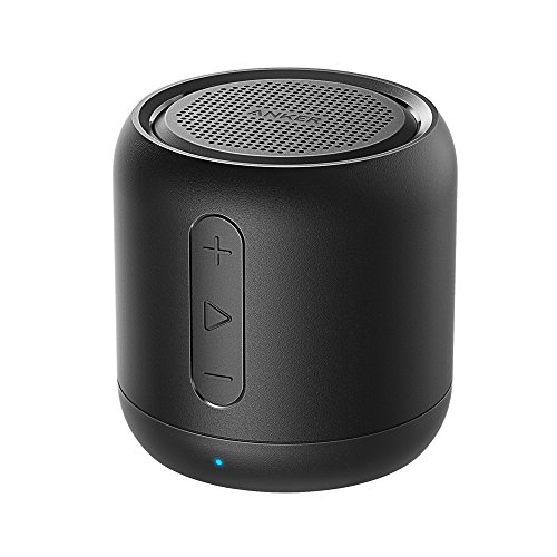 Anker SoundCore mini Bluetooth Speakers 5W with 15-Hour Playtime, Super-portable Wireless Speaker with 66-Foot Bluetooth Range, FM Radio, Enhanced Bass (Black) (Long Range Wireless Speakers compare prices)