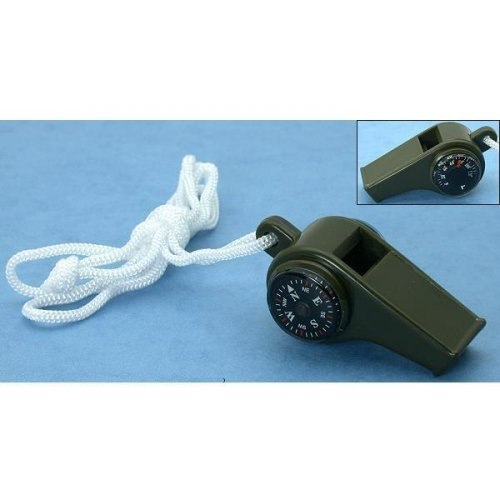 3-in-1 Compass Whistle Thermometer Hiking Survival Tool