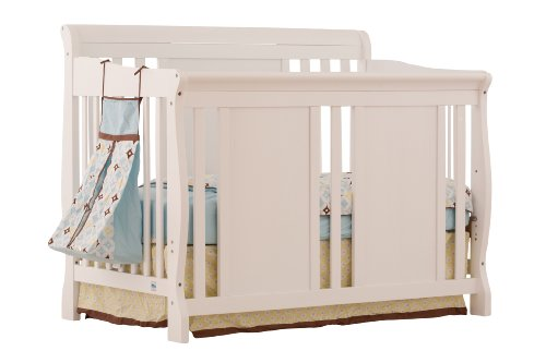 Stork Craft Verona 4-in-1 Fixed Side Convertible Crib, White - 1