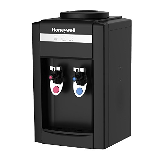 Honeywell HWB2052B2 Tabletop Top-Loading Hot/Cold Water Dispenser, Black (Tabletop 5 Gallon Water Dispenser compare prices)