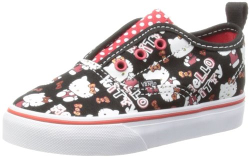 Vans-Toddlers-Authentic-V-Hello-Kitty-BlkHiRskRd-Casual-Shoe-9-Infants-US