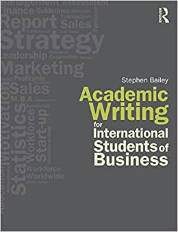 Academic Writing for Business English Instructor: C. Veli, MA 1