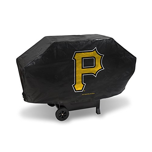 MLB Pittsburgh Pirates Deluxe Grill Cover, Black, 68 x 21 x 35