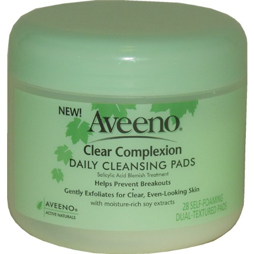 Imagen de Aveeno Activo Naturals Clear Complexion Daily Cleansing Pads, 28 Count