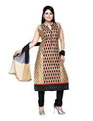 Ritu Creation Women's New Silk Stitched Straight Long Chudidar Suit With Front Embroided Work