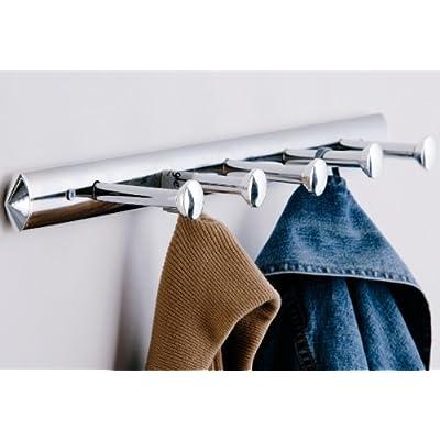 Stylish Chrome Silver Modern 5 Peg Coat Hook