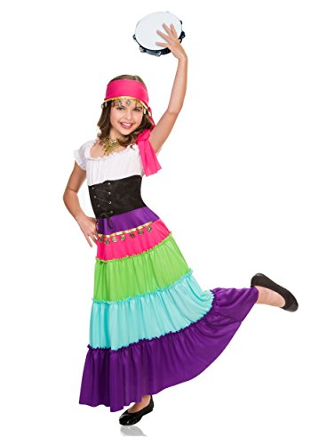 Renaissance Gypsy Costume For Girls - Medium