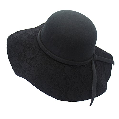 Home prefer chic ladies wide brim floppy winter hat wool for Home prefer hats