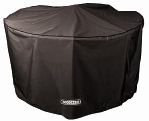 Bosmere D523 STORM BLACK 6-8 Seat Circular Patio Set Cover