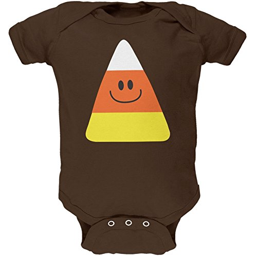 Halloween Candy Corn Costume Brown Soft Baby One Piece