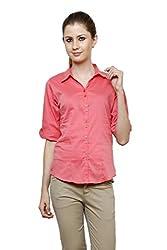 Zx3 Women's Strech Formal & Casual Shirt(Shirt_1024_XL_Carrot)